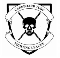 Cardboard tube fighting logo