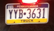 MTE truck license plate